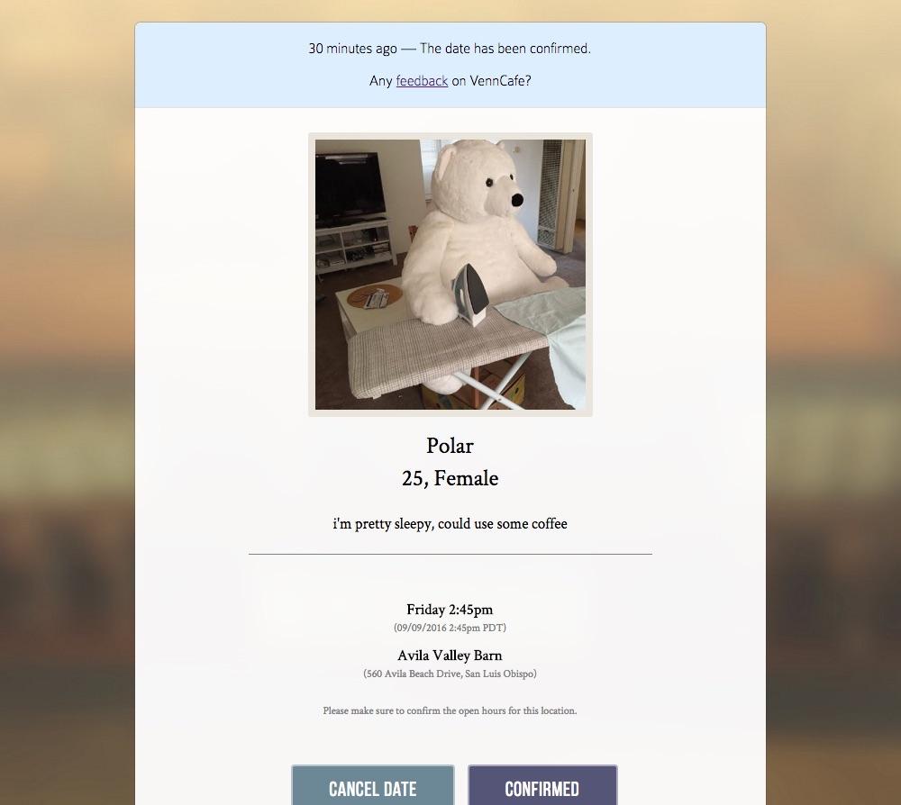 Venncafe match page