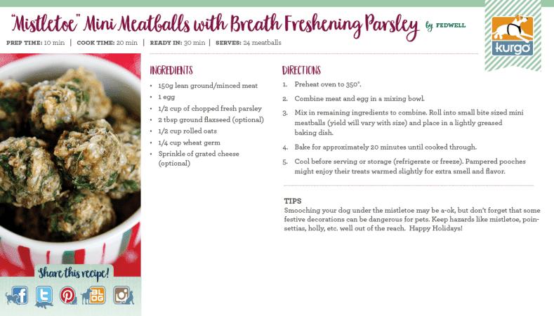 """Holiday Recipe: """"Mistletoe"""" Mini Meatballs"""