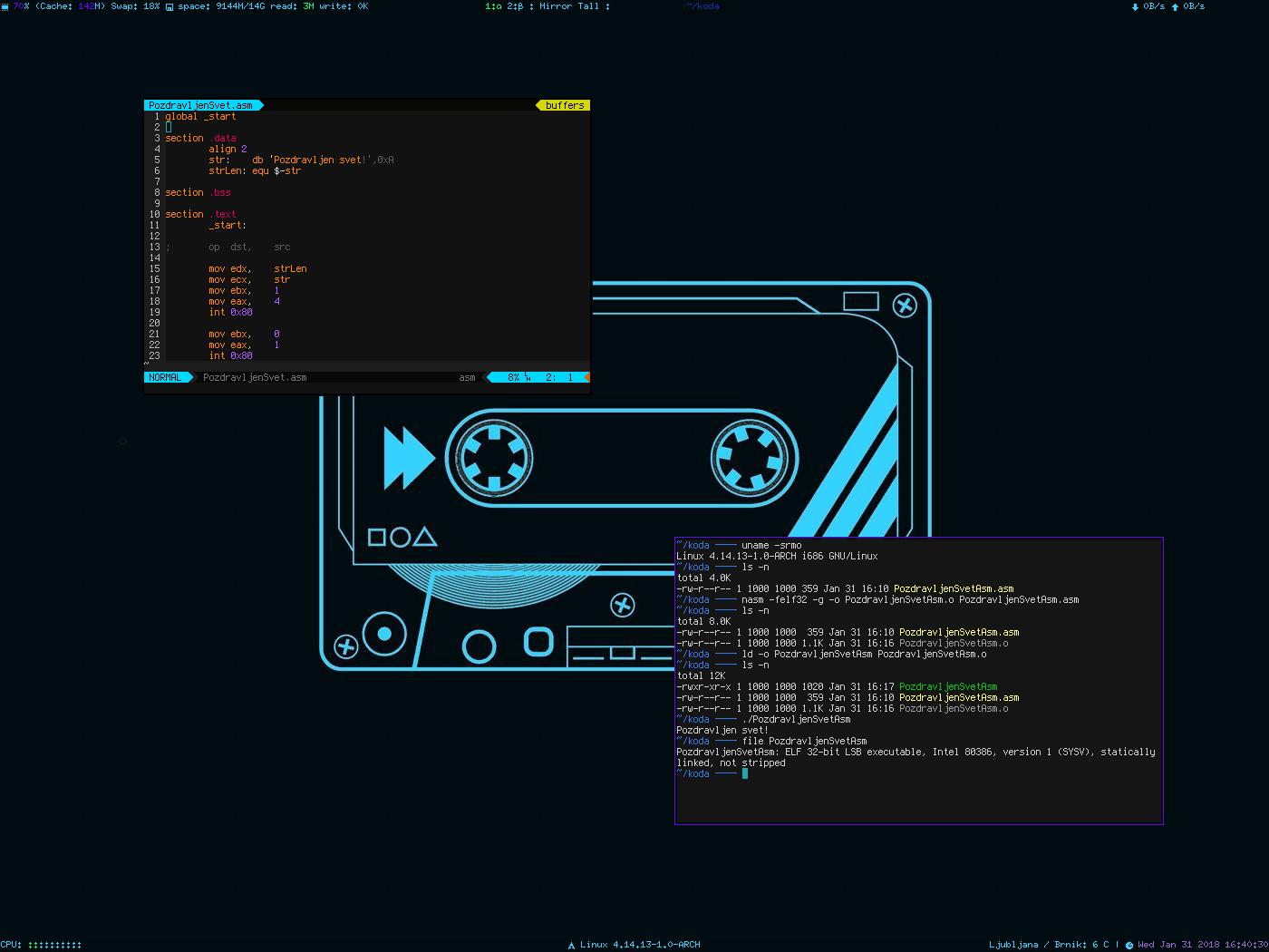 Slika 17: Linux x86 Asm