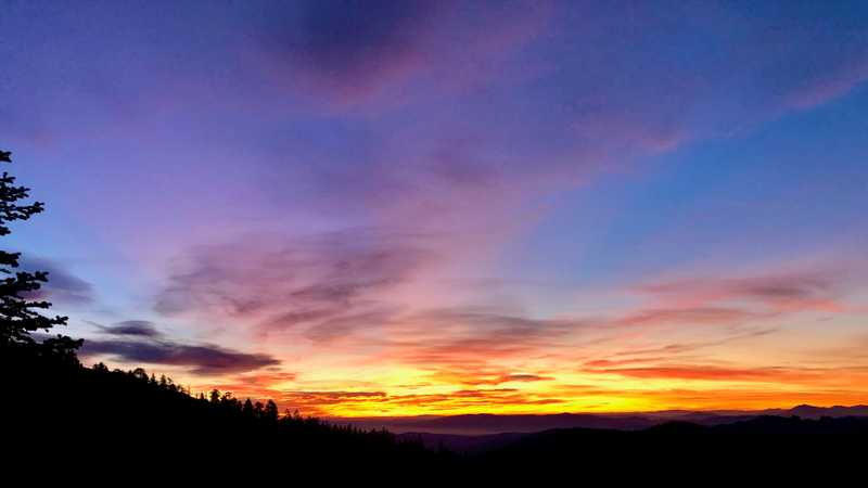 Sunrise on the Pacific Crest Trail