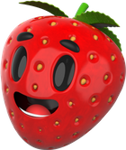 Strawberry image with parallax effect
