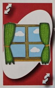 Sock Monkey Red Uno Reverse Card