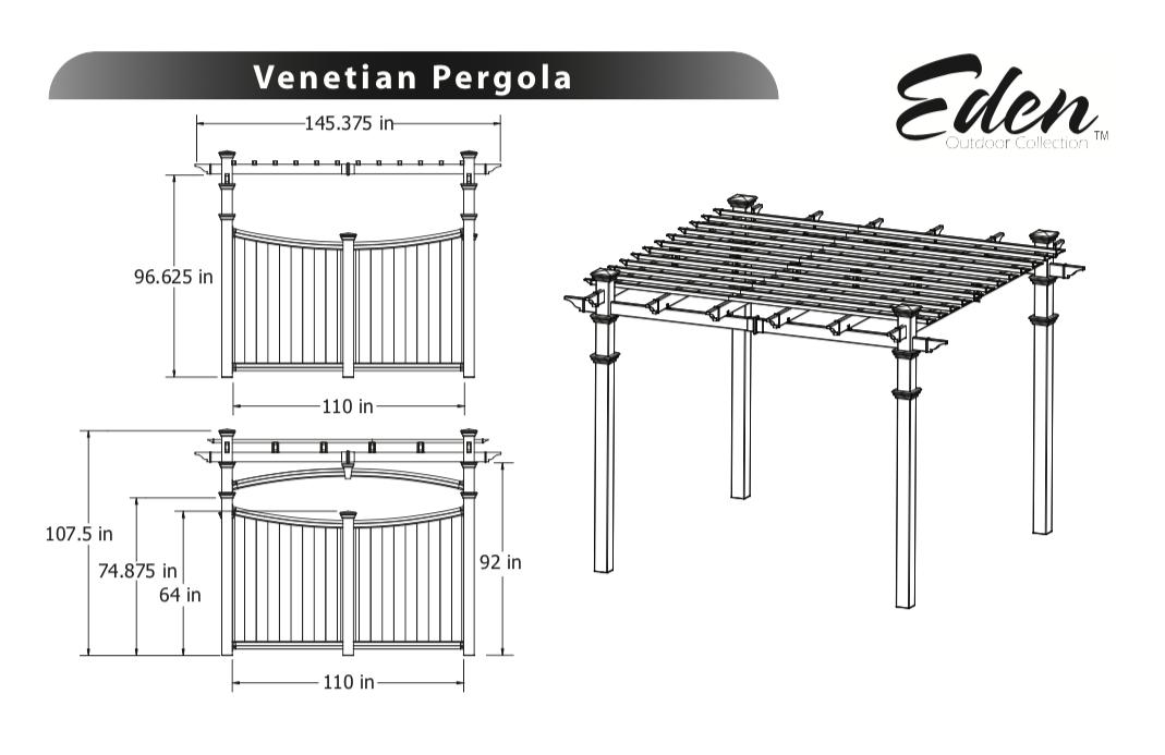 Valencia Pergola Specifications