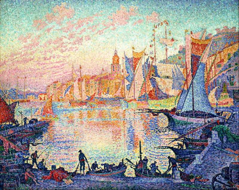 'The Port of Saint-Tropez' by Signac in 1901, currently at National Museum of Western Art, Tokyo