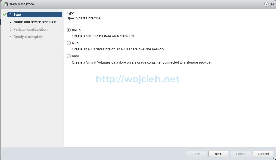 How to add NFS export to VMware ESXi 6.5 - 2
