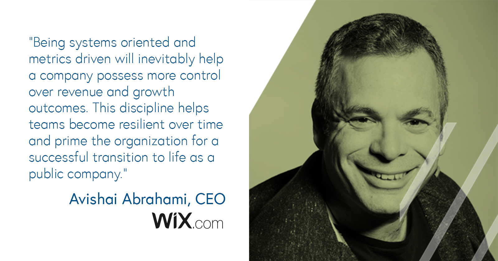 Avishai Abrahami, CEO of Wix.com on being metrics driven as a company goes public