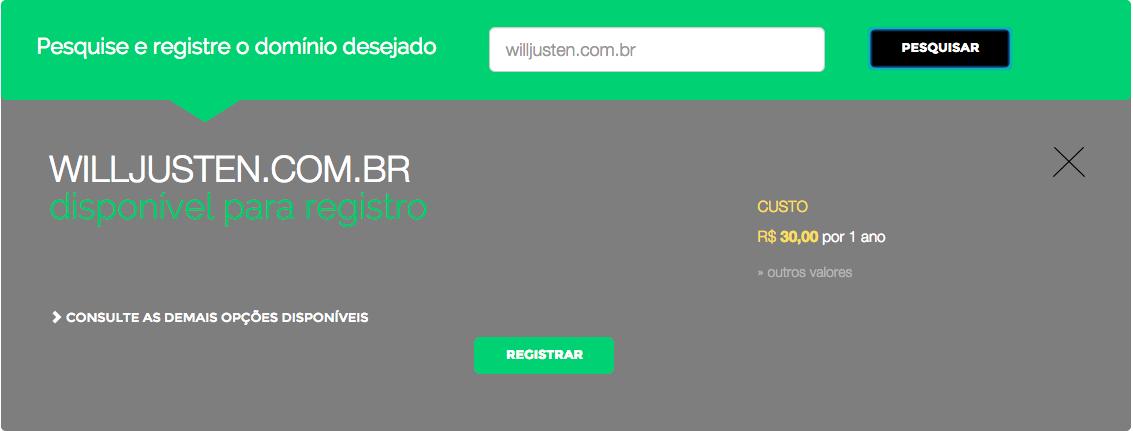 Imagem mostrando a Home Page com a ferramenta de analise de domínios