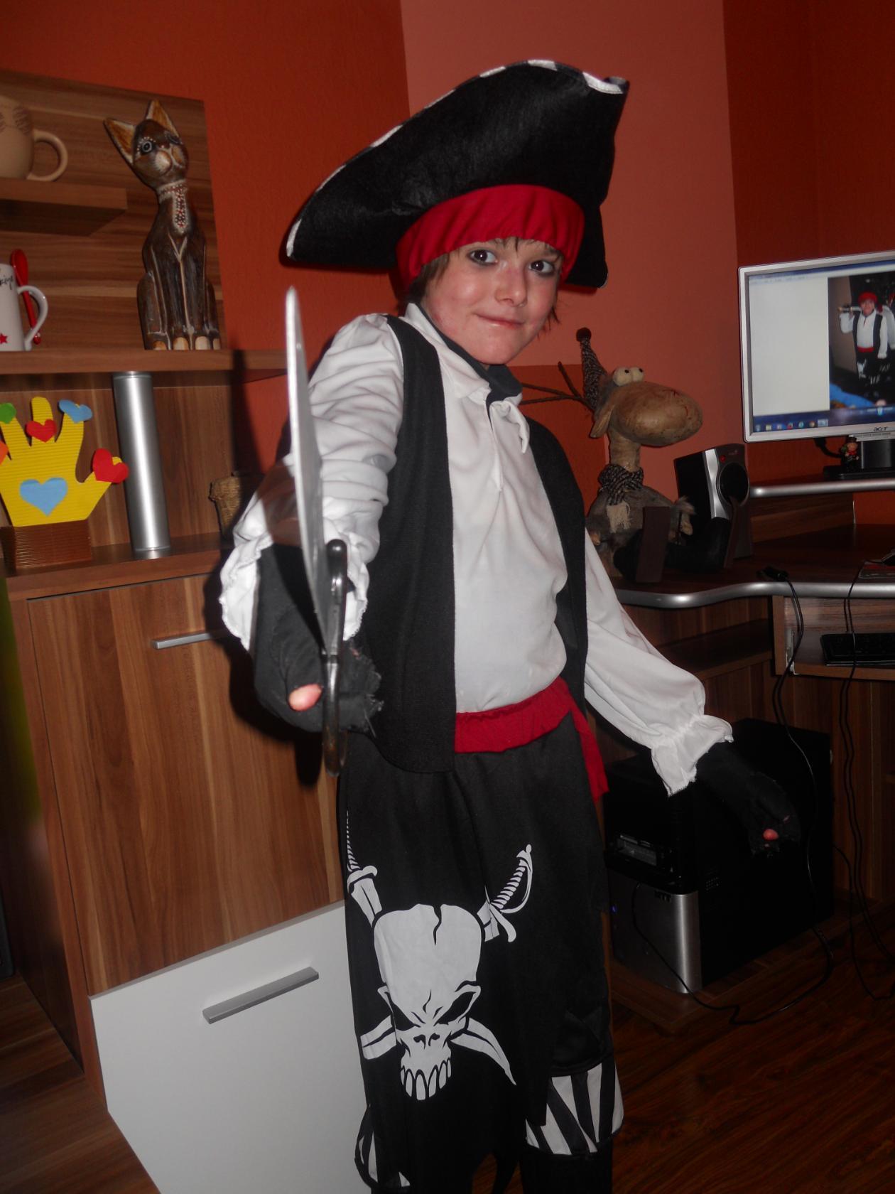 Saša jako pirát