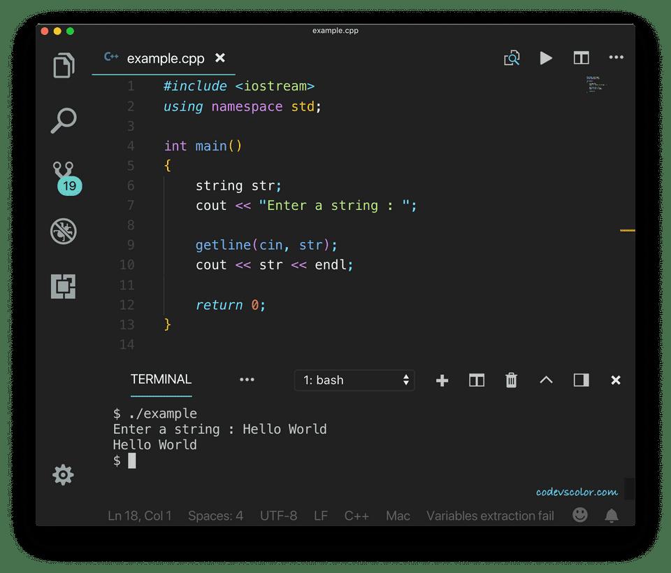 C++ getline