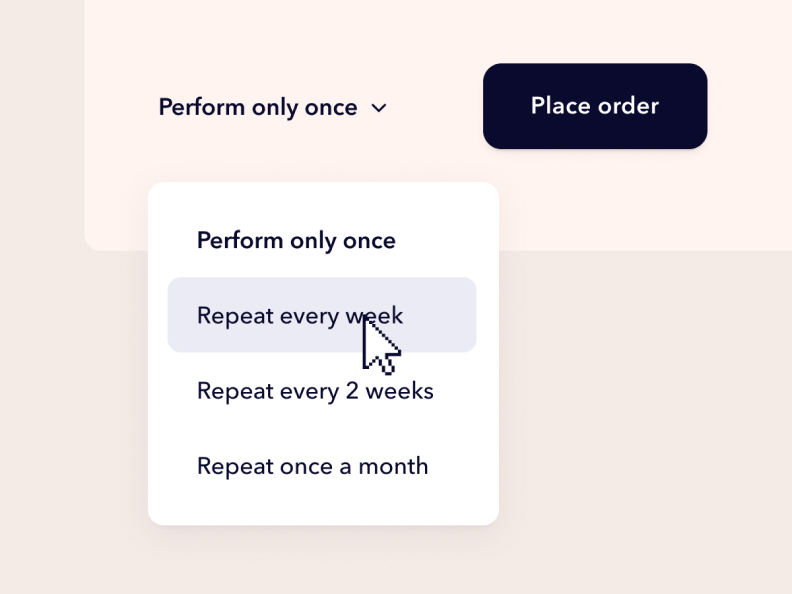 Userbrain interface: Select repeat user test interval