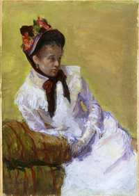 A self-portrait by Mary Cassatt - 'Portrait of the Artist' c. 1878, gouache on paper