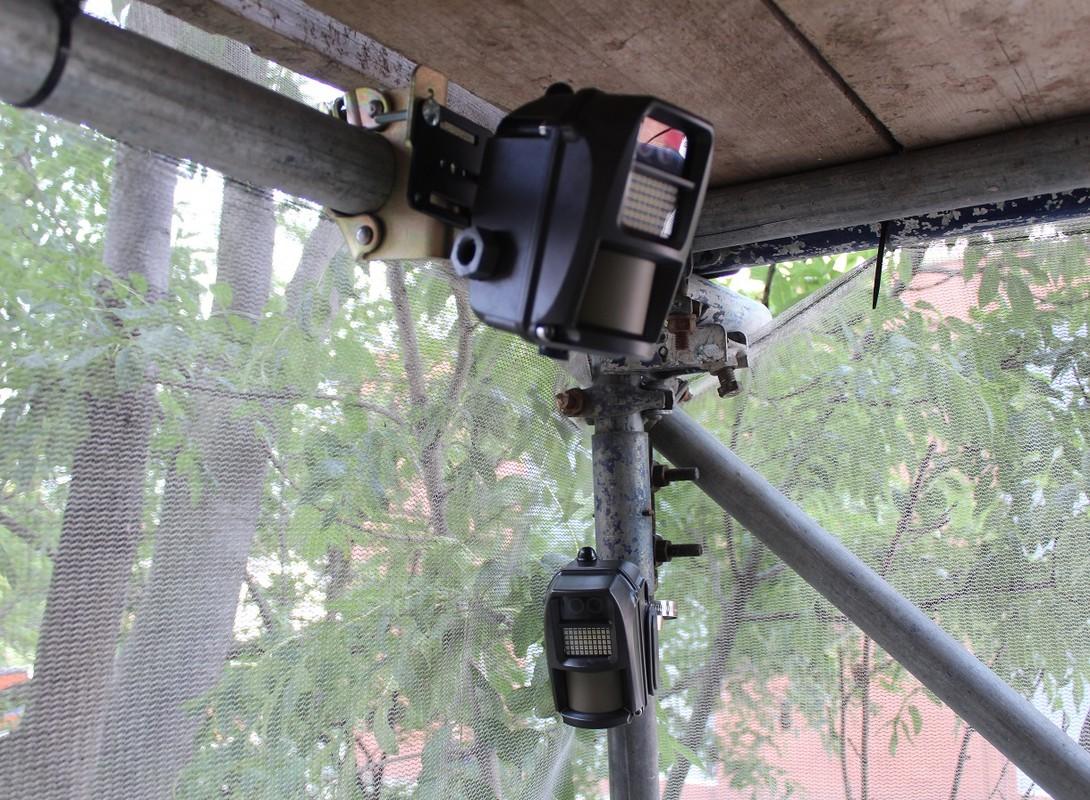 4G Wireless battery CCTV system on scaffolding