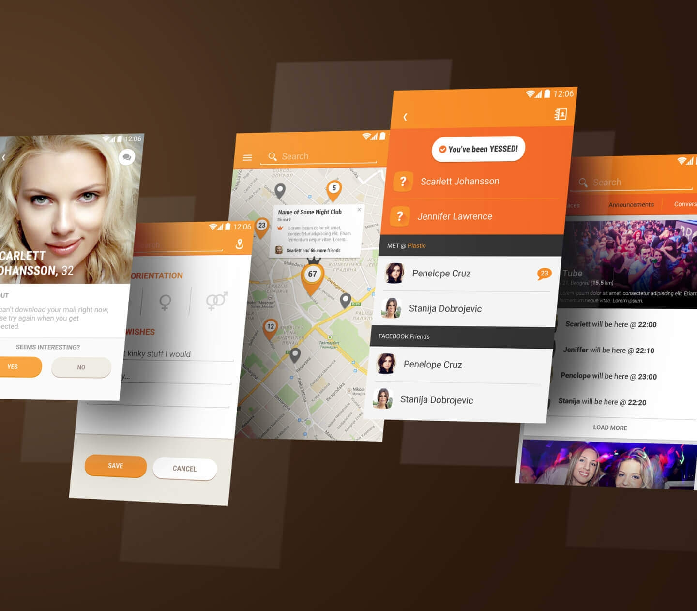 Location based Tinder like application UX