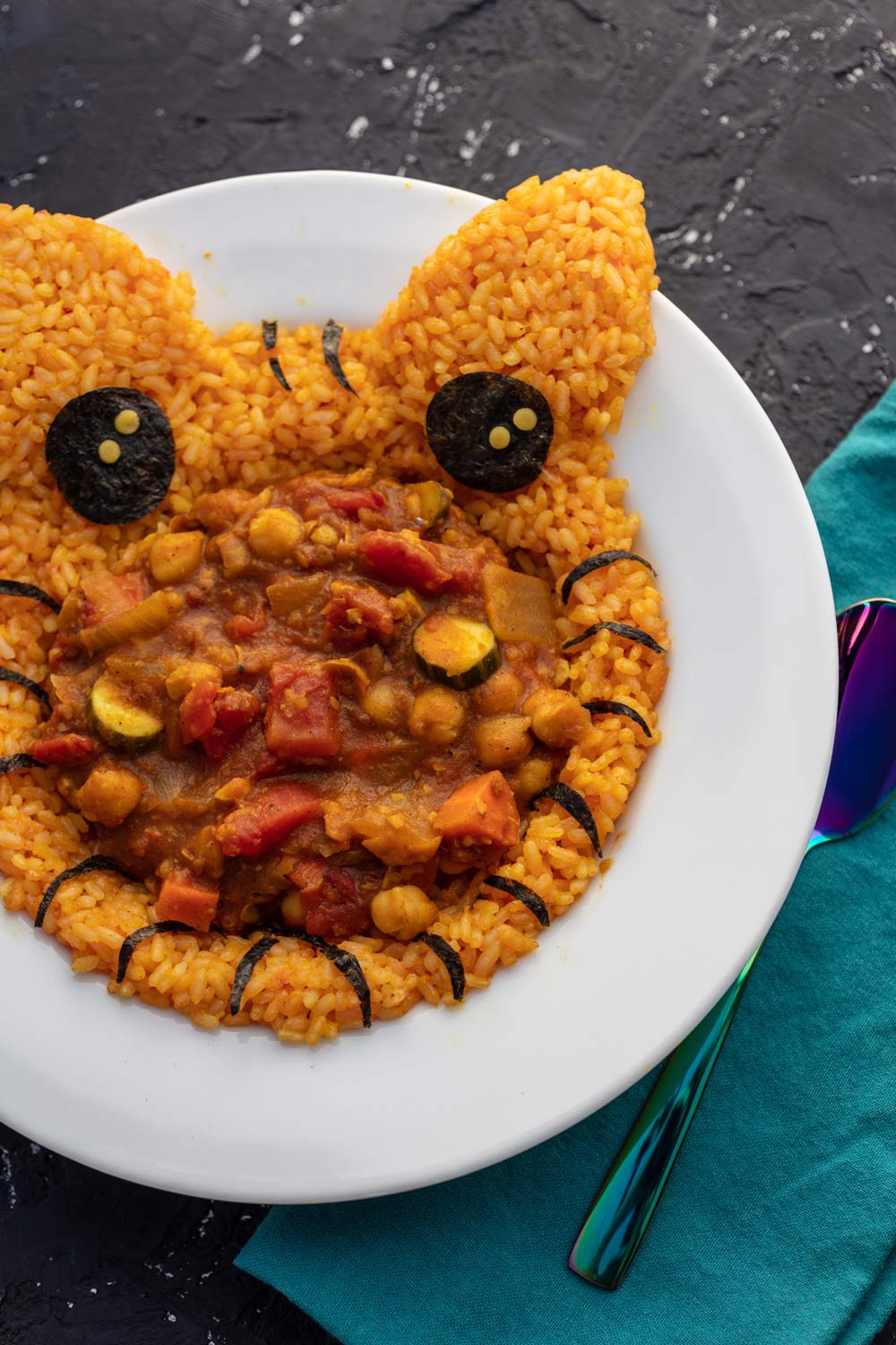 Vegan Chana Masala that looks like a tiger
