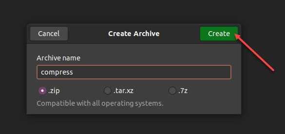 zip files Linux Ubuntu