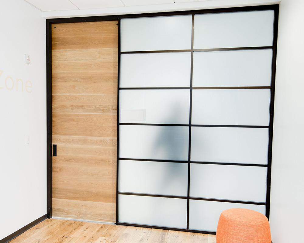 Aurora Office Room with Sliding Wooden Door