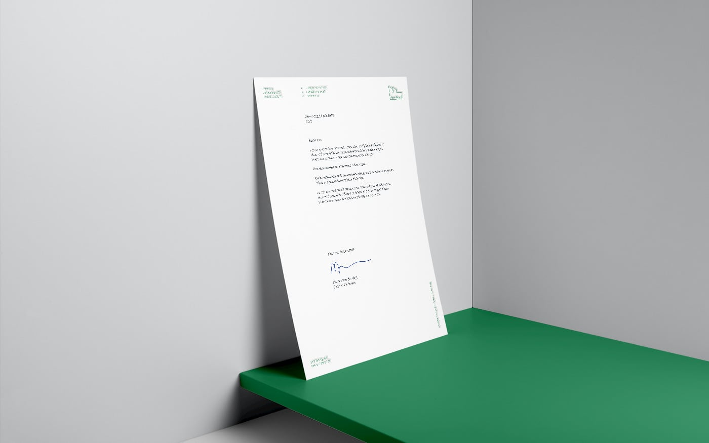 Factorion letterhead design