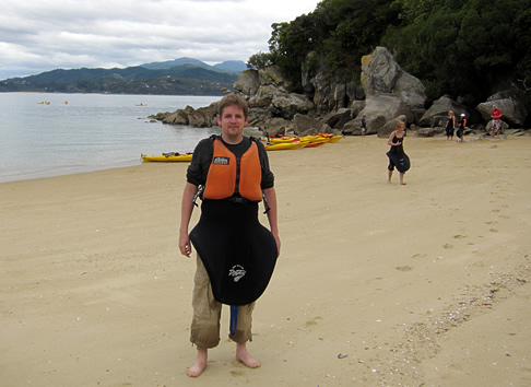 Me looking rather fetching in my kayaking gear