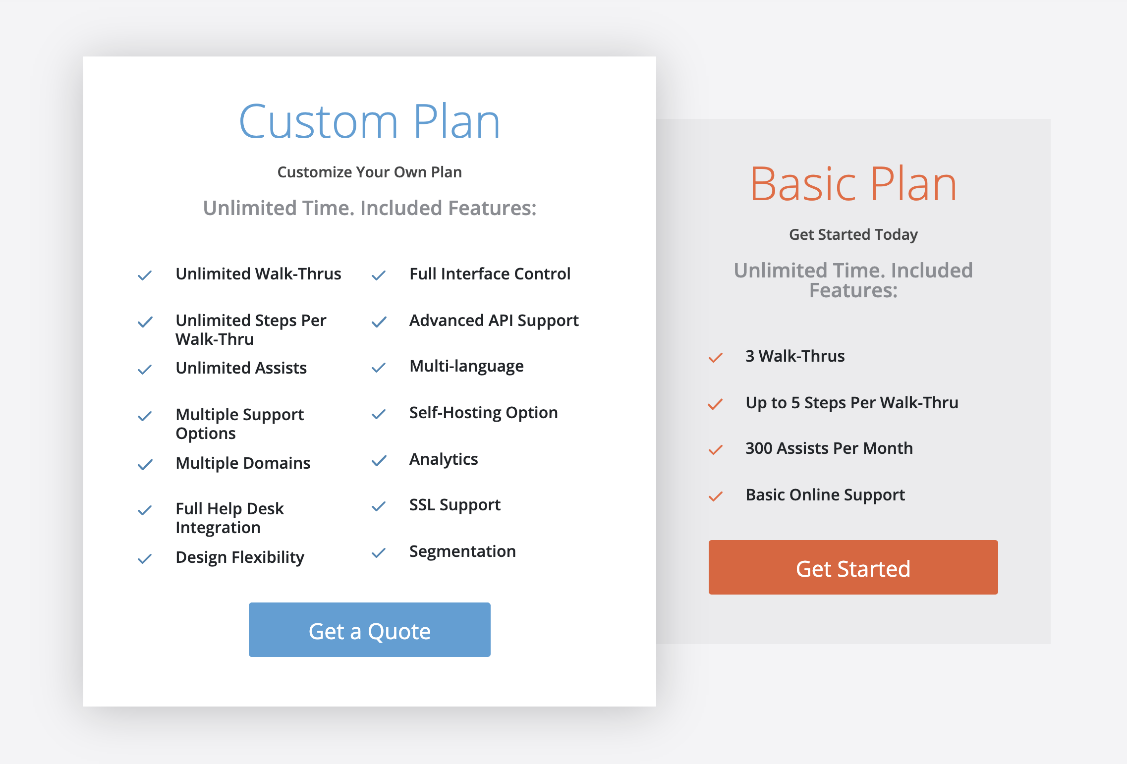 Walkme pricing page