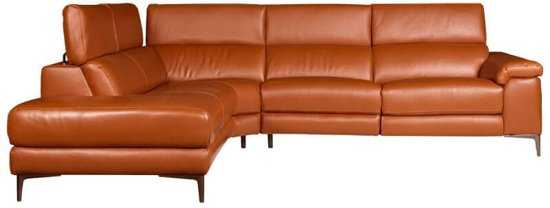 Hoekbank Lupine Chaise Longue Links Leer Oranje M5659 2 25 X 2 90 Mtr Breed 9200000083646643_4 225 cm