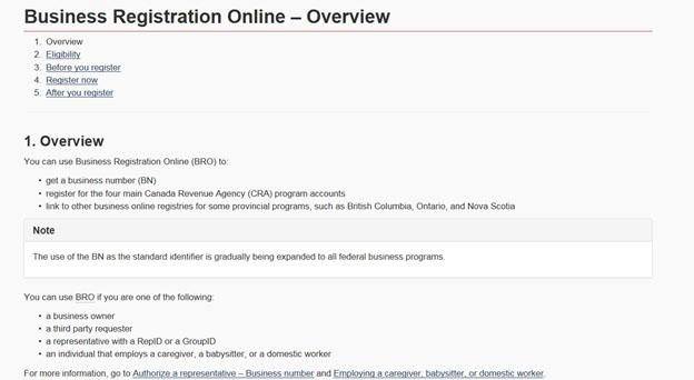 Business Registration Online before.