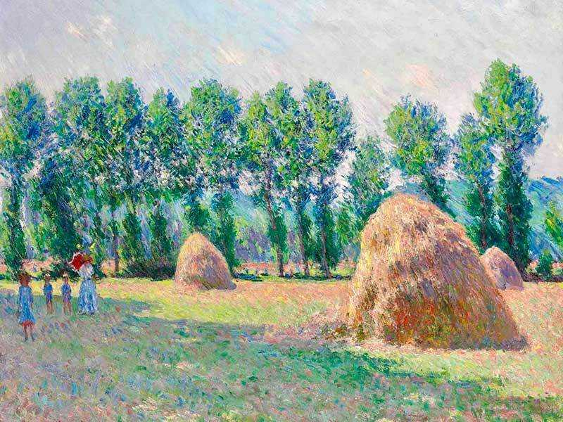 Monet's Giverny Grainstacks, sold by Christie's New York in May 2015 for $16.4 million