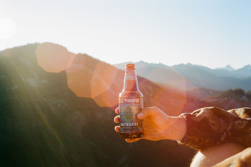 Camping and drinking beer Outburst Imperial IPA