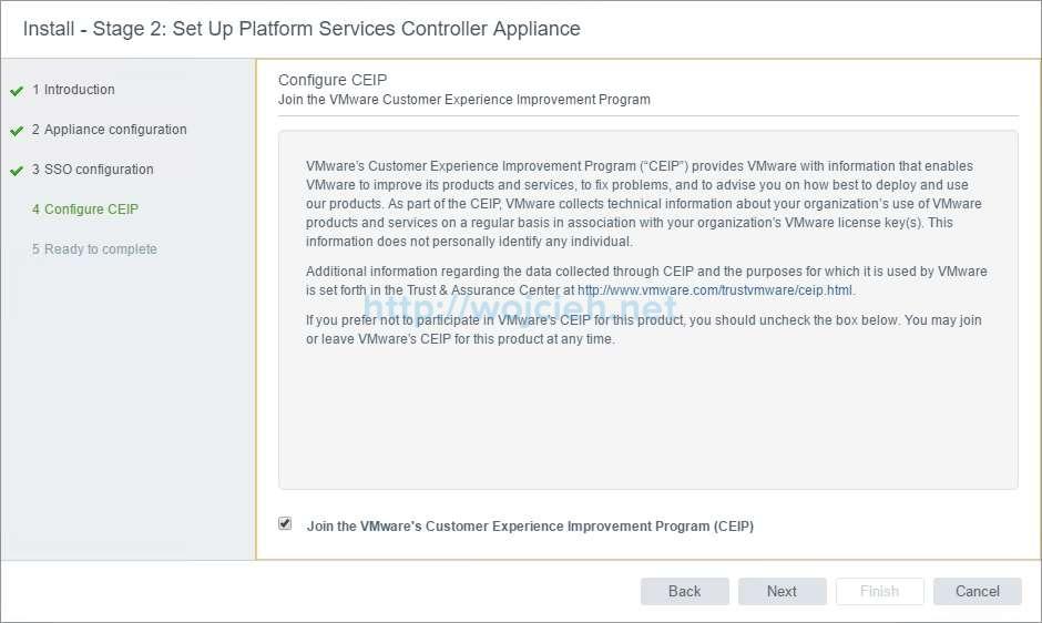 vCenter Server Appliance 6.5 with External Platform Services Controller - 17