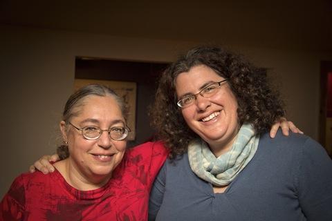 Picture of Carol Lashof and Susan Sobeloff.