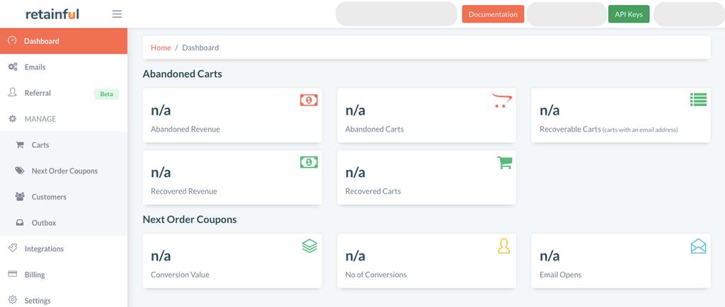 Retainful dashboard login
