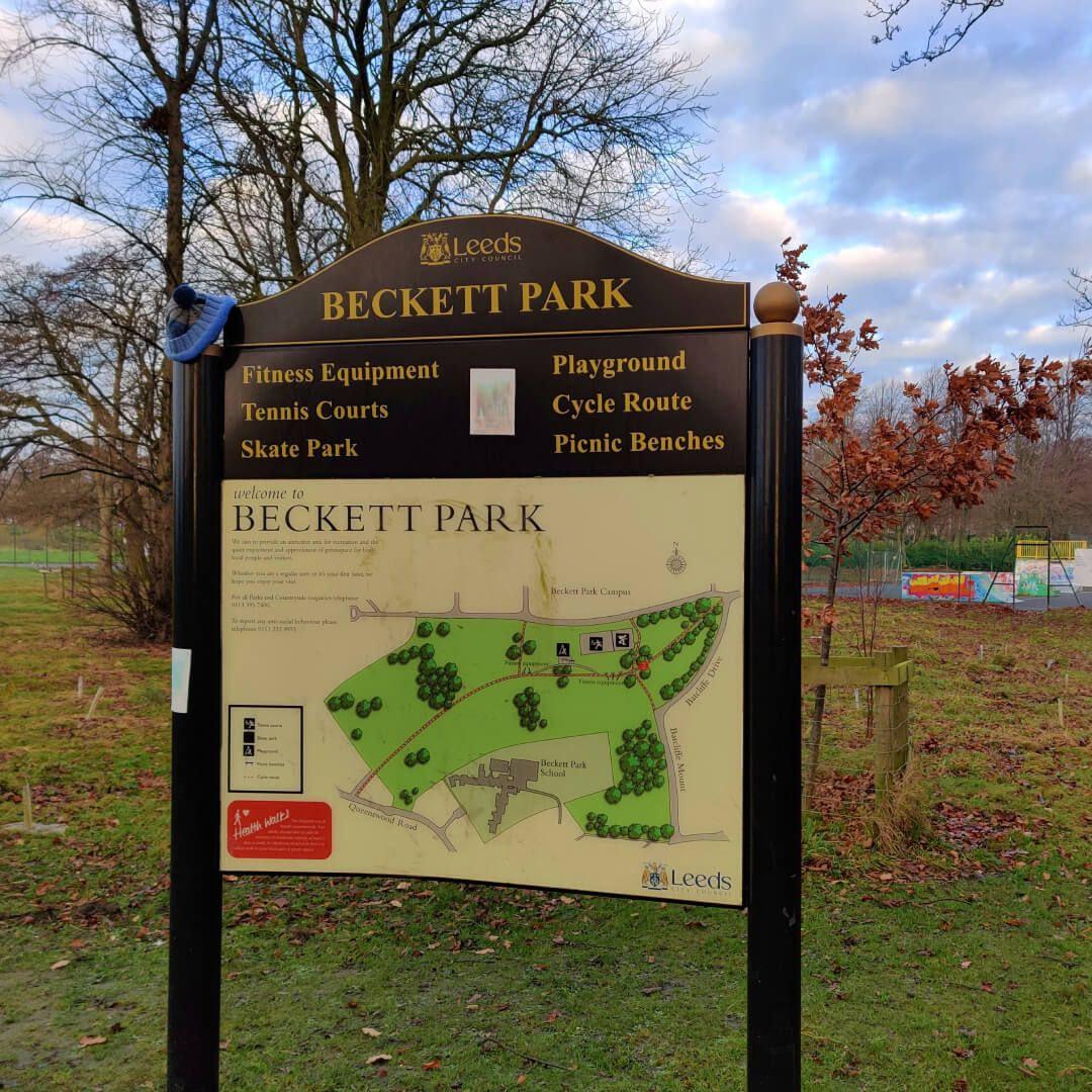 Beckett Park sign