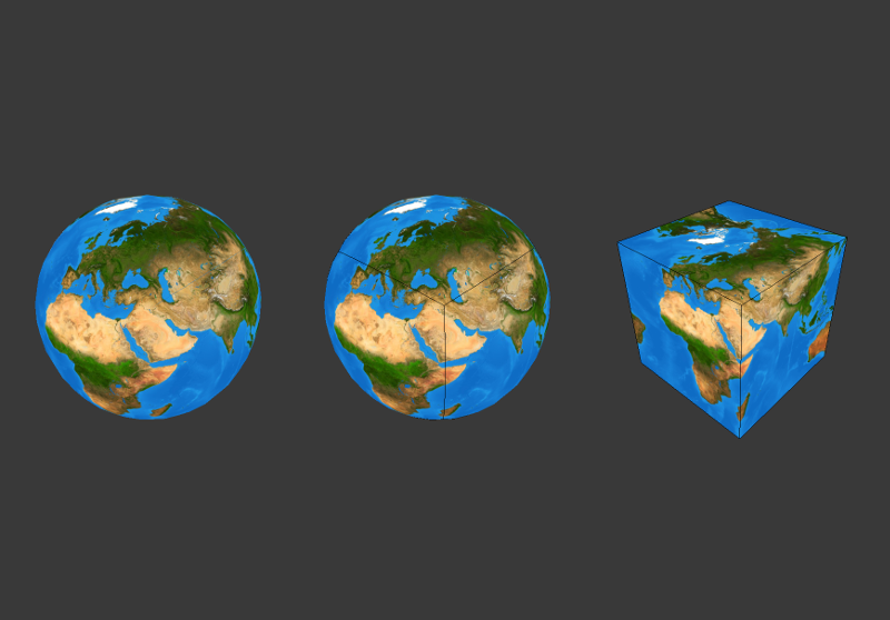 Earth Cube Map