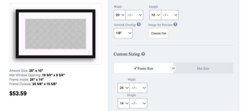 frame customization