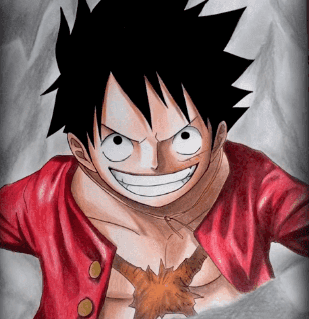 Desenho do Luffy