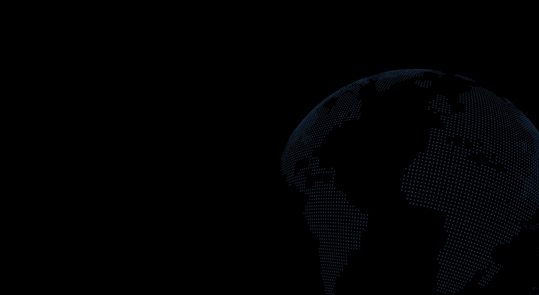 a dot matrix earth globe