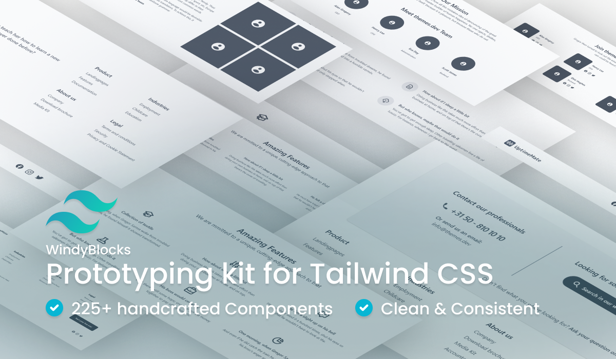 WindyBlocks Prototyping Kit for Tailwind CSS