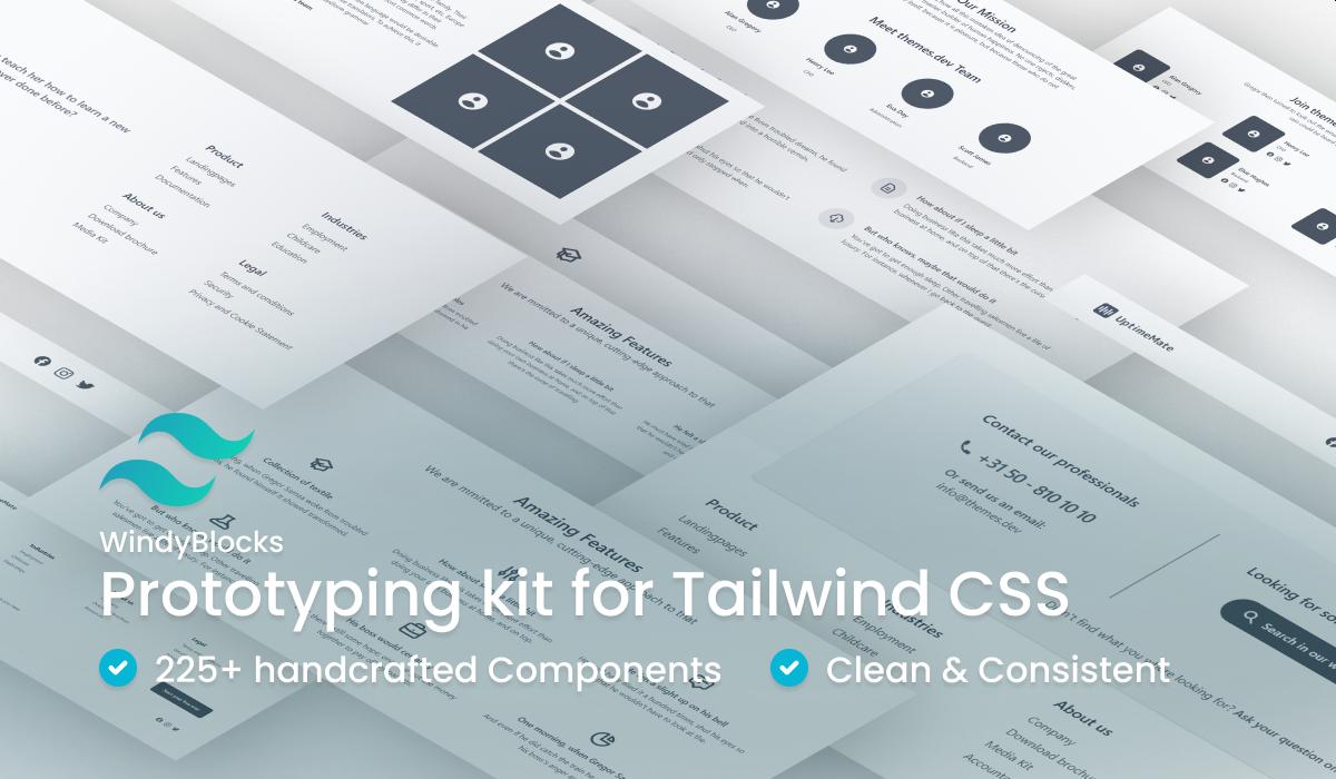 WindyBlocks Prototyping Kit for Tailwind CSS