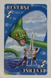 Magic Tree House Blue Uno Reverse Card
