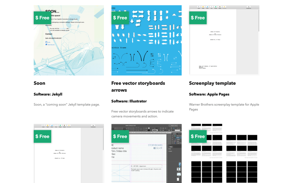 Template Supply free templates page