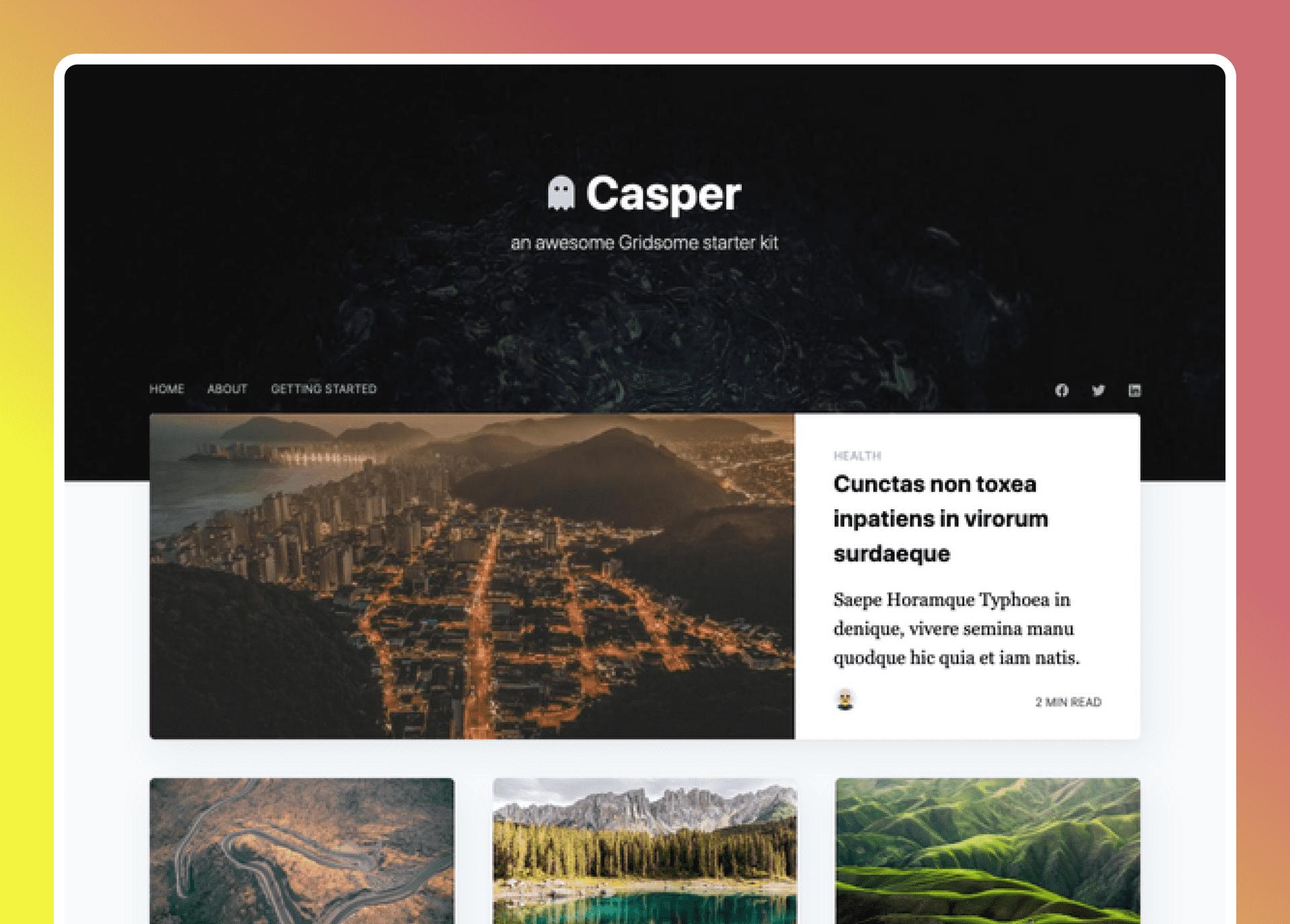 Gridsome Casper V2 Starter- cover