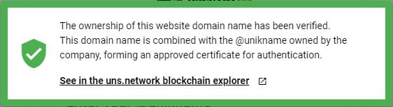 Unikname Connect trust certificate link