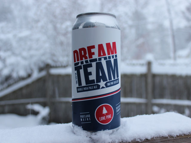 Dream Team, a Double IPA brewed by Lone Pine Brewing Company