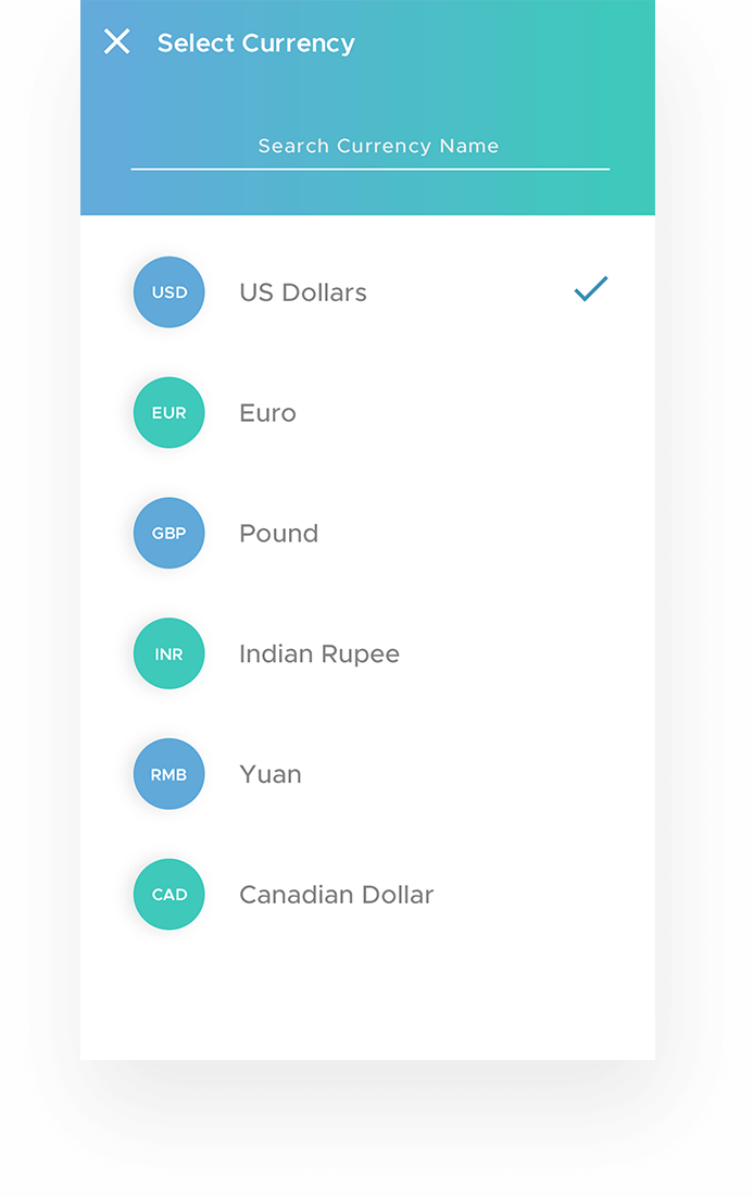 Smart Exchange Navigation Screens