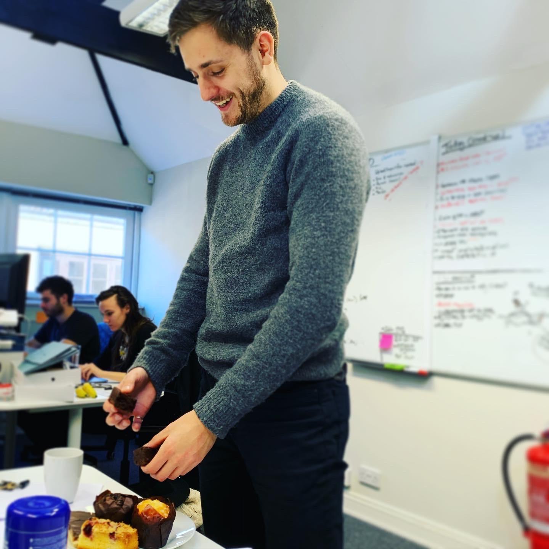 JJ sampling the rewards of a start-up career…