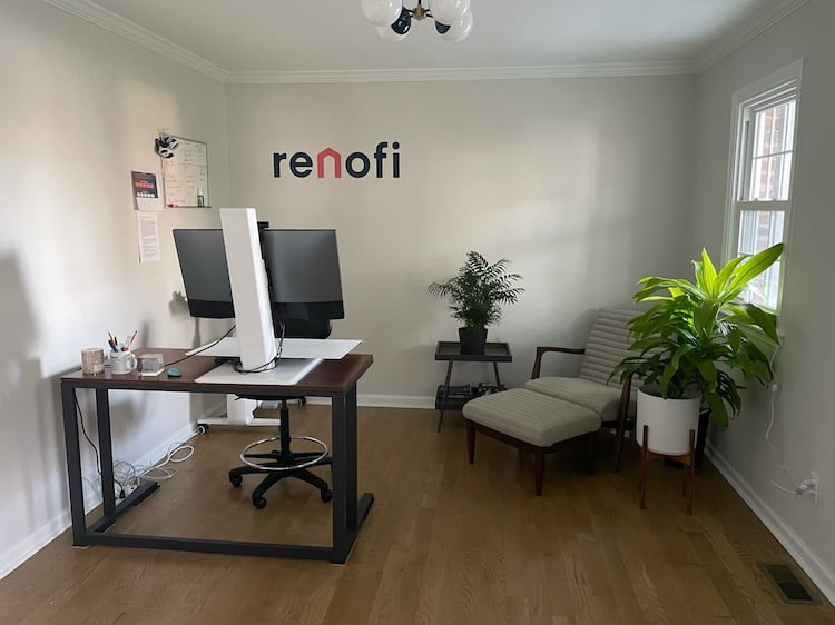 RenoFi Founder's new home office space