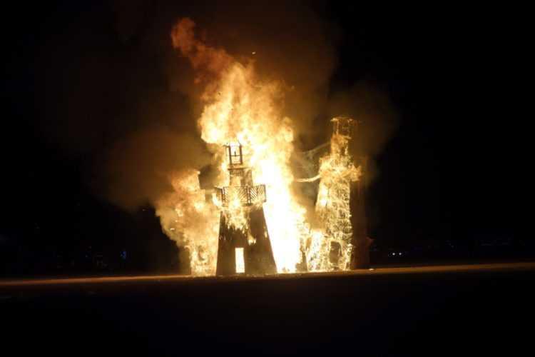 Burning Man 2016 Lighthouse Burn