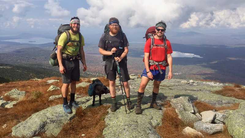 Jason, Maple, Single T and Boomer on Saddleback Mountain