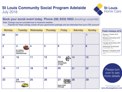 Community Program Adelaide July 2018