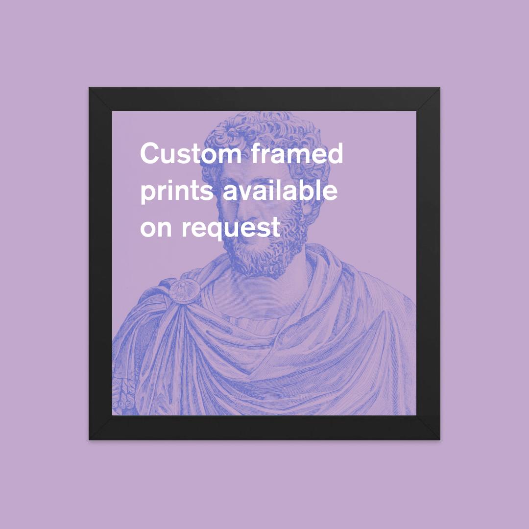 Framed print with custom saying