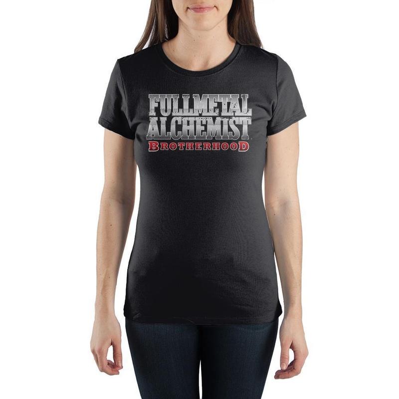 Fullmetal Alchemist Women's Black Short Sleeve Shirt Wear